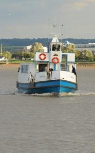 Tilbury Ferry Boat, Thames. Ruth's coastal walk.