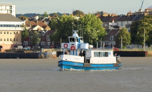 Ferry, Gravesend to Tilbury, Ruths coastal walk. Crossing the Thames