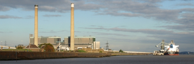 Tilbury Power Station, from Gravesend. Ruth's coastal walk.