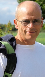 My husband, Ruth's coastal walk