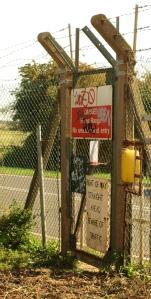MoD warning sign, Ruth's coastal walk, Shoeburyness