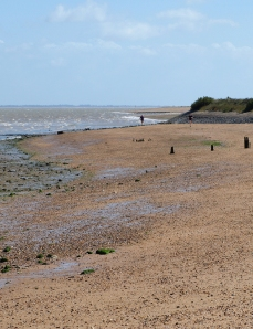 Beach towards Sales Point, Ruth's walk along Essex coast