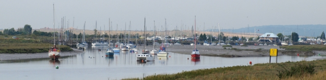 Marina, Benfleet creek, Ruth's coastal walk.