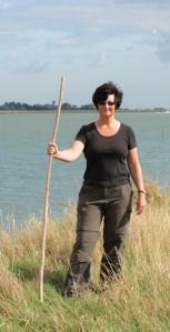 Snake stick, Ruth's coastal walk, Barling Marsh