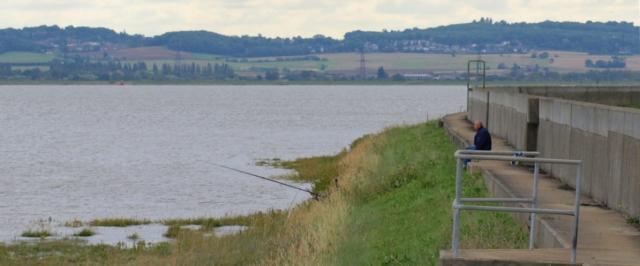 River wall, Thames Estuary, Ruth's coastal walk, Essex.