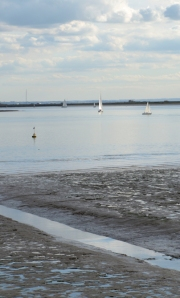 sailing ships on River Crouch, Essex, Ruth's coastal walk