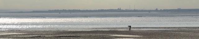 Light on the beach, Westcliffe, Essex. Ruth's coastal walk.