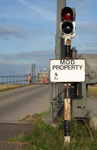 MoD land, Potton Island, Ruth's coastal walk