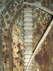 Large screw, with copper colour, Hoo Peninsula, Ruth's coastal walk.
