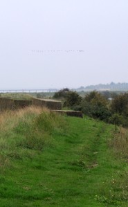 Path along Thames bank, towards Cliffe Fort, Kent