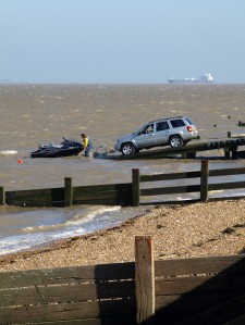 Jet ski being unloaded, Allhallows-on-Sea, Ruth's Coastal Walk