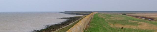 River Wall, Hoo Peninsula, Kent. Ruth's Coastal Walk.