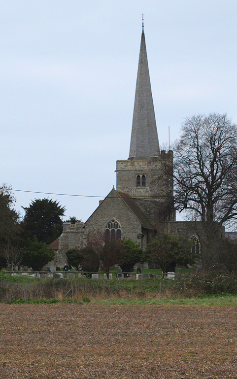Church at Hoo St Werburgh, Ruths coastal walk