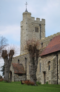 St Mary Magdalene Church in Gillingham Green, Ruths coastal walk.