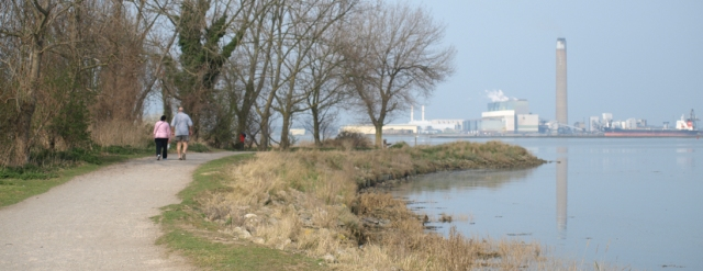 Riverside Country Park, Gillingham, Kent. Ruth's coastal walk.