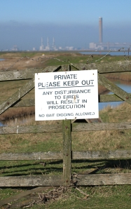 Rude Signs, Chetney Marshes, Ruth's coastal walk in Kent.