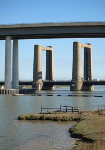 Bridges to Isle of Sheppey, Kent, Ruth's coastal walk.