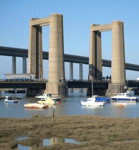 Bridges to Isle of Sheppey, Kent. Ruths coastal walk.