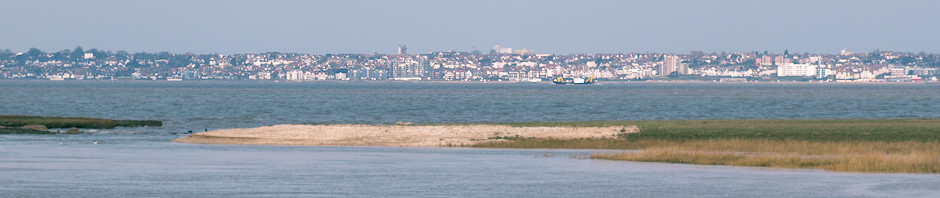 Southend across the Thames from Yantlet Creek, Ruths coastal walk