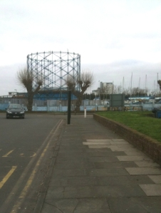 Gasworks, Gillingham, Ruth's coastal walk.