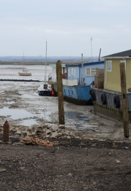 Houseboats, Saxon Way near Hoo. Ruth's coastal walk.