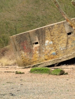 collapsing pill-box, Ruths coastal walk