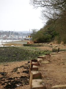 Saxon Shore Way, from marina at Hoo towards Rochester, Ruths coastal walk.