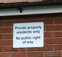 Private Property sign, Faversham, Ruths coastal walk.
