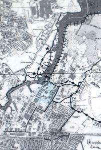 map, Sittingbourne, Swale District, Kent.