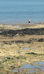 Fisherman off Birchington, Kent, Ruths coastal walk.