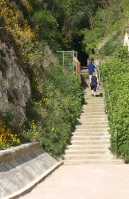 Steps down to shore, North Foreland, Kent. Thanet Coastal Path. Ruth.