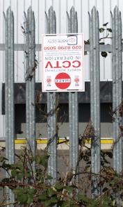 Upside down CCTV sign, Sittingbourne, Kent. Ruths Coast Walk.
