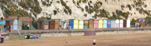 North Foreland beach huts, Kent, Ruths coast walk.