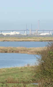 Sheppey Crossing Bridge, Kent, Saxon Way, Ruth's coast walk.