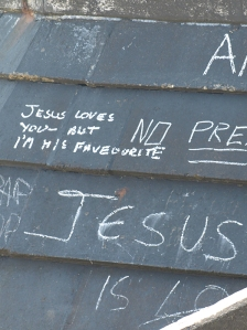 Broadstairs, Jesus loves you sign, Ruths coastal walk.
