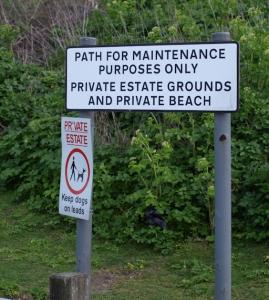 Private estate sign, Seasalter, Kent, Ruths coastal walk