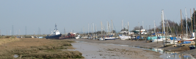 View of creek, near Faversham, Kent. Ruth's coastal walk.
