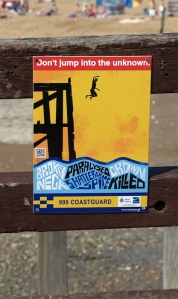 Broadstairs, Don't Jump sign, Ruths coastal walk.