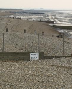 Private beach signs, Kent, Ruth's coastal walk