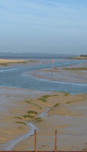 Conyer Creek, looking out towards The Swale. Ruth's coastal walk.