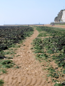Shore between Broadstairs and Ramsgate, Ruths coastal walk.