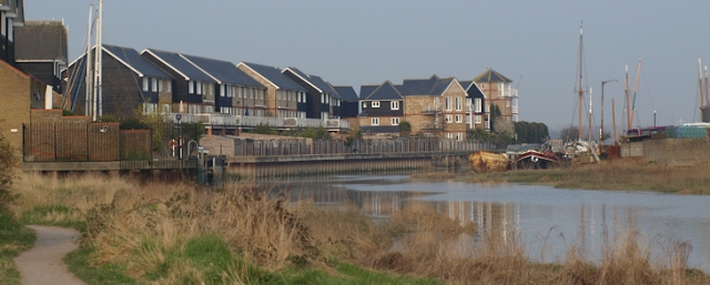 New development, Faversham, Ruth's coastal walk.