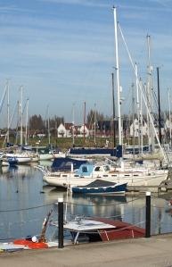 Conyer Marina, Saxon Shore Way, Kent. Ruth's coast walk.