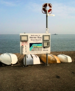 Sign for Herne Bay - Kent, Ruth's coastal walk