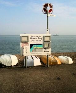 Sign for Herne Bay - Kent, Ruth's coastal walk