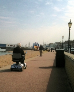 mobility scooter - Herne Bay, Kent, Ruths coastal walk
