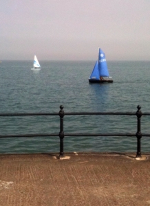sailing boats, Herne Bay, Kent, Ruth's coastal walk
