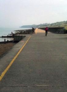 long straight path to Bishopstone, Ruths coastal walk