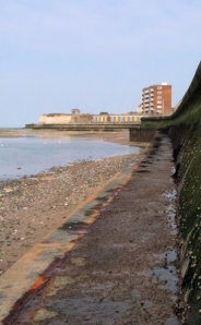 approaching Birchington, Ruths coastal walk