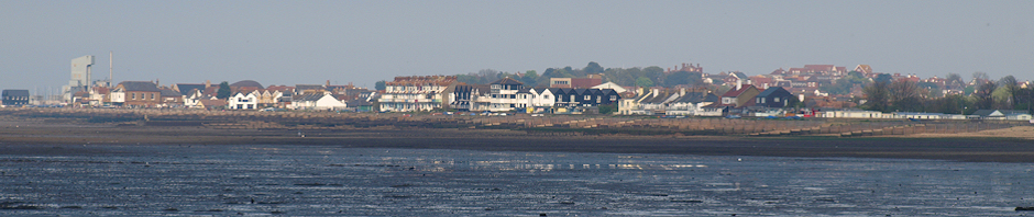 Whitstable in evening sunlight, Ruths coastal walk